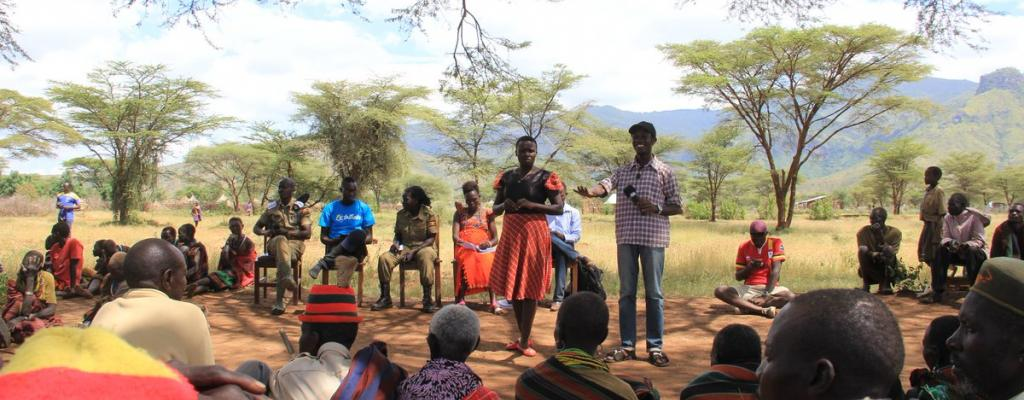 Community dialogue in Rupa, Moroto District